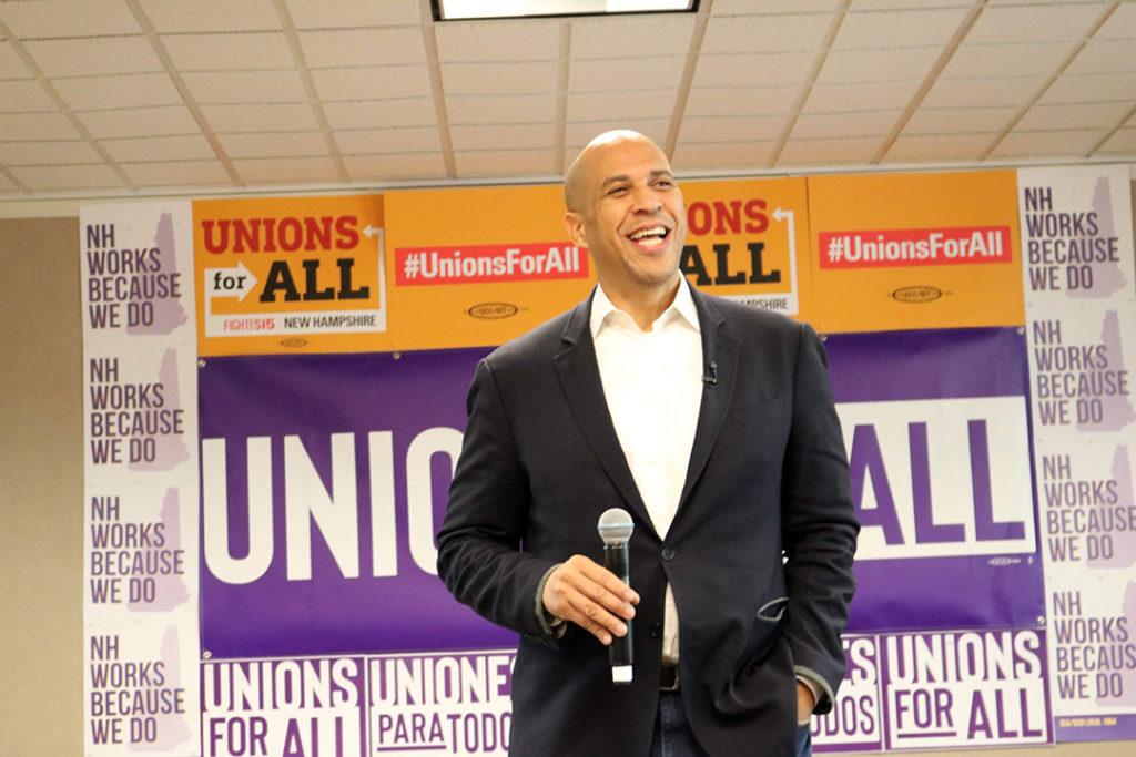 Cory Booker SEA/SEIU Local 1984